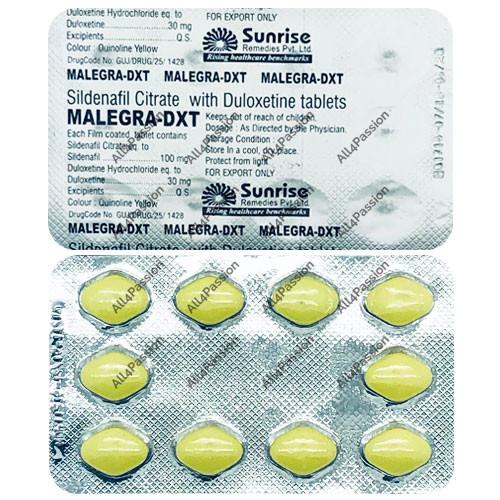 Malegra DXT Plus (citrato de sildenafil + duloxetina)