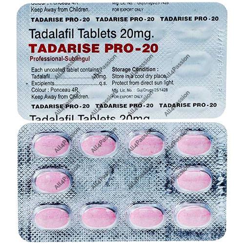 Tadarise Pro-20 mg (tadalafil)
