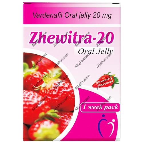 Zhewitra-20 mg Oral Jelly (vardenafil)