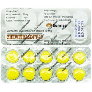 Zhewitrasoft-20 mg (Vardenafil)