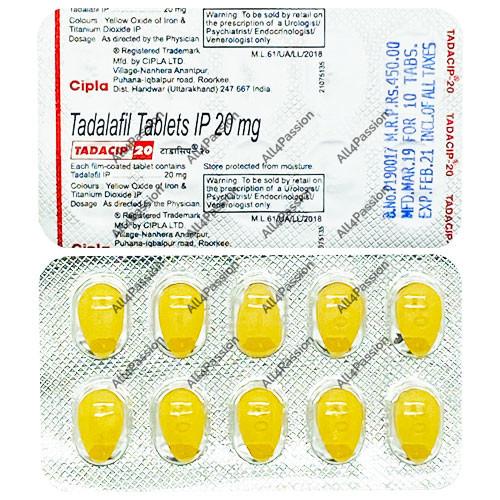 Tadacip 20 mg (tadalafil)